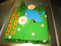 tort żaby