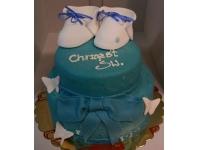 tort na chrzciny buciki chłopiec