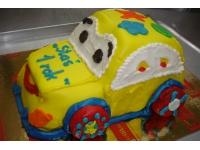 tort samochód roczek