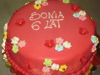 tort w kwiatki
