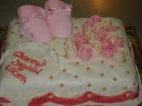tort chrzciny poduszka dziewczynka