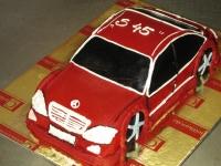 tort samochód mercedes