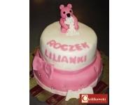 tort dla dziewczynki miś