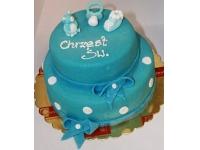 tort na chrzciny smoczek chłopiec