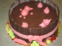 tort świnki w czekoladzie