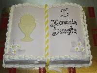 tort na pierwszą komunie świętą