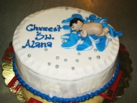 tort na chrzciny chłopiec