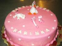 tort chrzciny dziewczynka