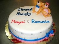 tort na chrzciny z misiami