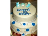 tort na chrzciny ze smoczkiem