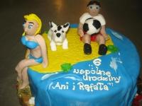 tort na plaży