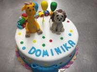 tort dla dzieci zyrawa i lew