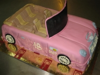 tort samochód kabriolet barbie