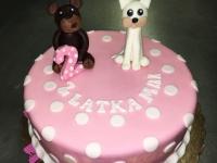 tort miś i kot
