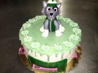 tort zielony z pieskiem od 2,5 kg