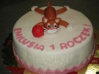 tort kotek na roczek