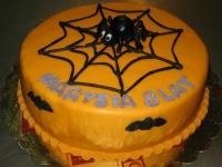 tort pająk halloween