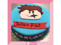 tort z chłopcem