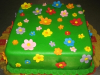 tort kwiatki