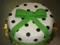 tort dla dziewczyny w kropki