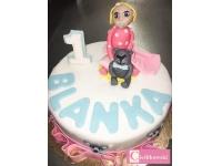 tort z dziewczynka, od 2,5 kg