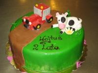tort traktorek, tort krowa