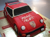 tort samochód porsche